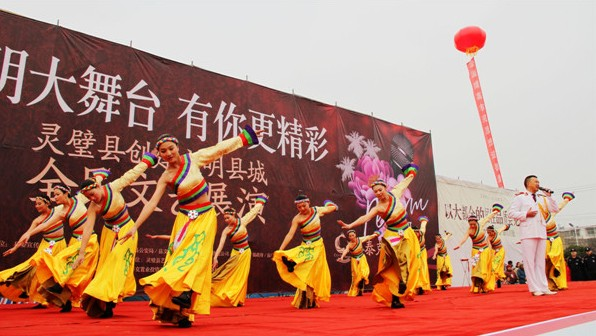 歌舞《最美的歌献给妈妈》-灵璧县启动创建省级文明县城全民文艺展