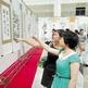 """9月22日,大观区""""共筑中国梦、畅想黄梅情""""美术书法摄影巡展在大观区政务中心举行。"""