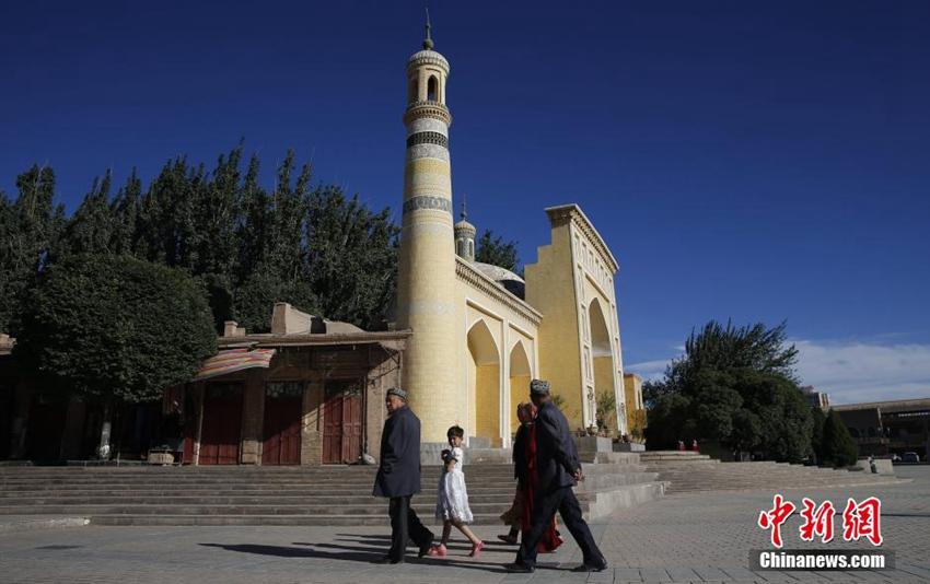 高清:新疆喀什大风后天气晴好