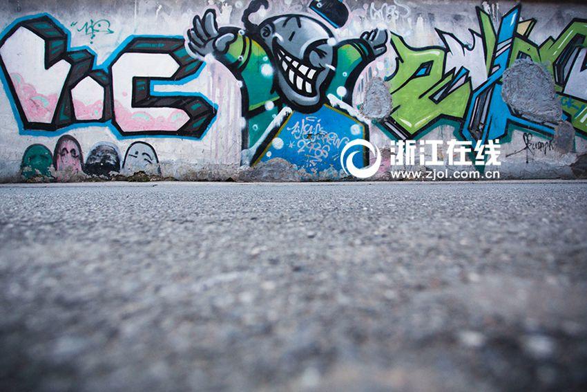 喜迎十九大-高清 杭州街头涂鸦艺术 让行人的脚步慢10秒