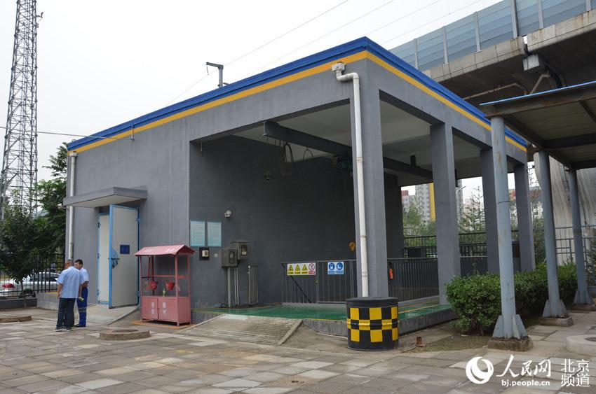 图为北京左安门雨水泵站的泵房.图片