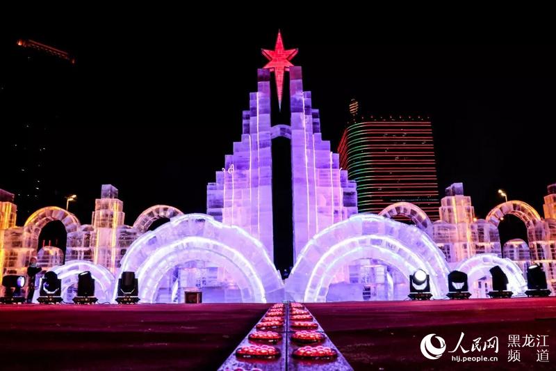 高清组图:哈工大首届校园冰雪文化节开幕