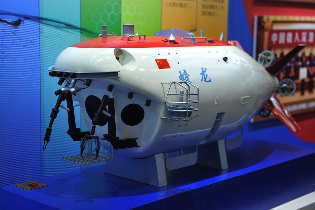 """山东青岛:蛟龙号深海载人潜水器""""升级换代""""首次露面"""