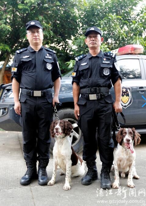 湛江市两民警携警犬赴京圆满完成