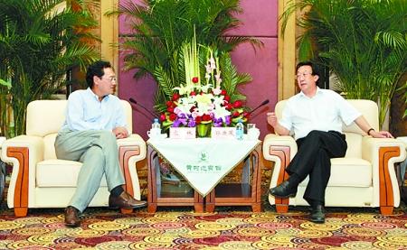 郭庚茂会见华润集团董事长宋林--地方领导--人