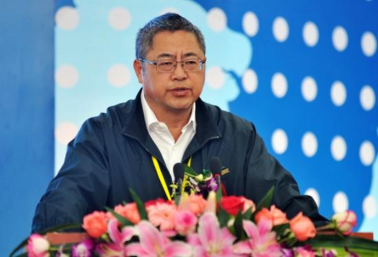 策划专家王志纲在商务合作论坛上发表演讲